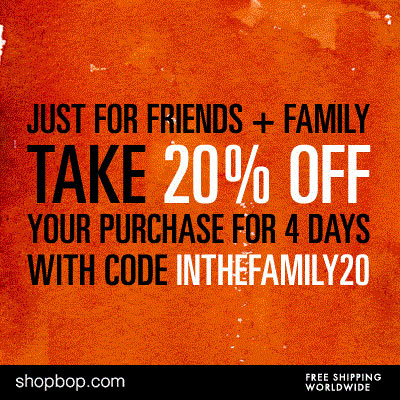 Shopbop Coupon Code: Friends & Family Save 20%