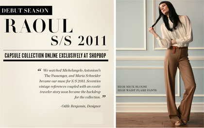 Shopbop RAOUL Capsule Collection Launch