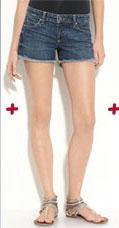 Paige Premium Denim Silverlake Stretch Denim Cutoff Shorts