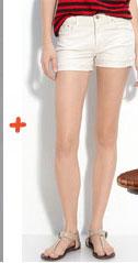 MOTHER Skinny Not Skinny Frayed Hem Denim Shorts