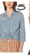 BDG Classic Solid Breezy Button-Down Shirt