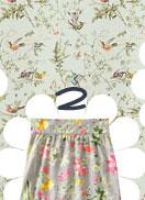 Floral Linen-Blend Whirly Skirt