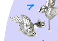 Agrigento Platinum Gold Vermeil Bird Post Earrings