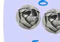Bottega Veneta Oxidized Silver Rosebud Earrings