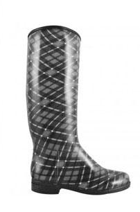 DAV english plaid slate rain boot