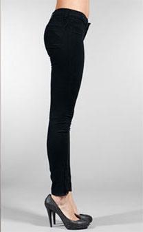J Brand Zipper Legging in Pitch