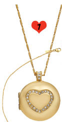 Monet Heart Necklace