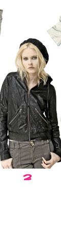 Mike & Chris Harper Vintage Lambskin Baseball Zip Up Hooded Jacket
