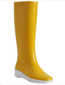 Fendi Yellow Rubber Tall Rain Boots