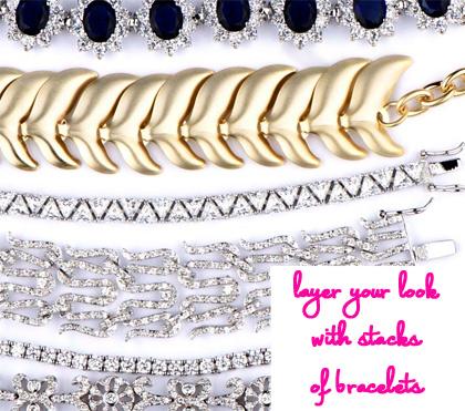 stacked wrist bracelets by emitations