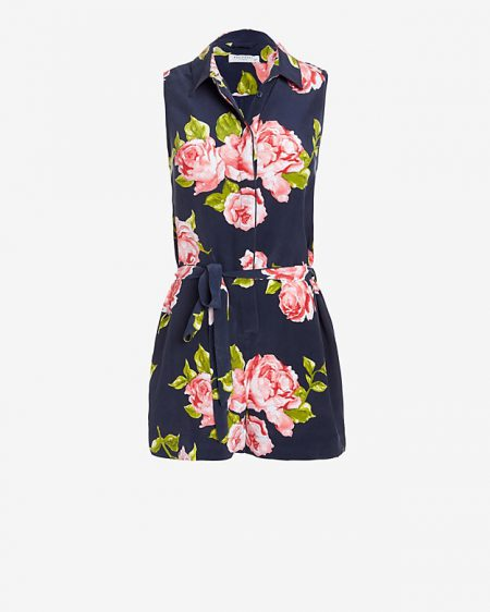 Equipment Earl Floral Print Romper