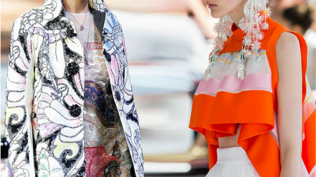 Bold colors and wild prints are taking over the runways ~ image via Fashionisers