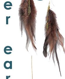 Carole Feather & Leaf Earrings