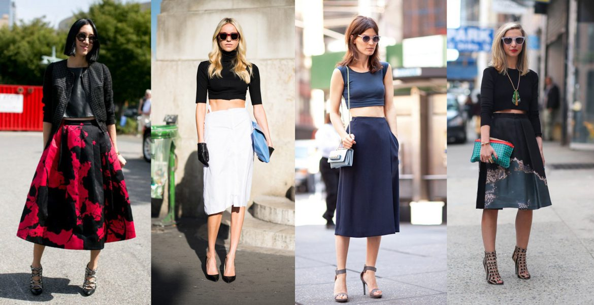 How to Wear: High-Waist Skirt + Crop Top