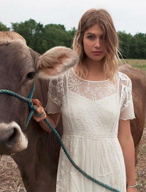 Prairie Chic Lace Dress