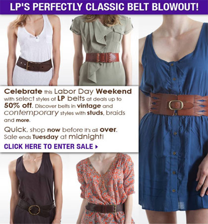Linea Pelle Labor Day Belt Sale