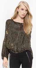 Rachel Zoe Sequin Dolman Sleeve Blouse