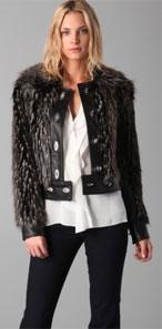 Rachel Zoe Zoe Fur Lock Leather Jacket