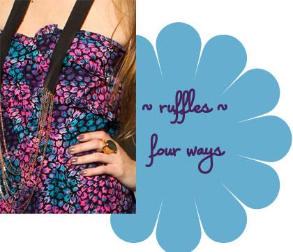 Violet Ruffle Dress Luna by Josandra