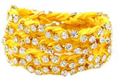 Ettika Rhinestone Wrap-Around Yellow Ribbon Bracelet